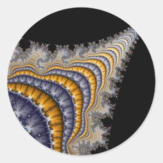 Spine_fractal Classic Round Sticker