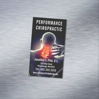 Spine Graphic (Neck Pain) Chiropractic Business Card Magnet