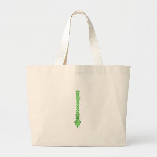 Spine Green Jumbo Tote Bag