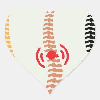Spine Heart Sticker