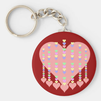 Spine of Hearts Gifts and Apparel Basic Round Button Keychain