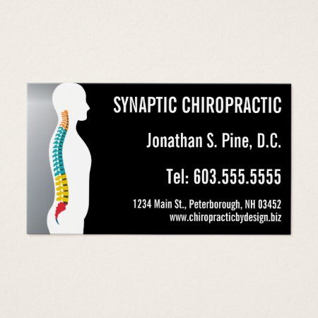 Spine Silhouette Graphic Chiropractor Business Card