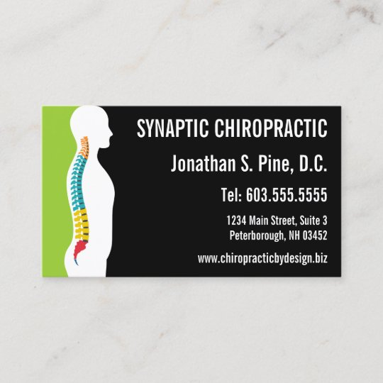 Spine silhouette graphic office hours chiropractor business card spine silhouette graphic office hours chiropractor business card colourmoves