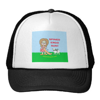 spineo ergo sum lambspun trucker hat