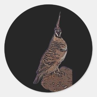 Spinifex pigeon classic round sticker