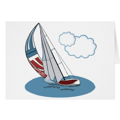 Spinnaker in the Wind Card