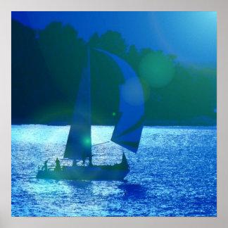 Spinnaker Racing Sailboat Poster