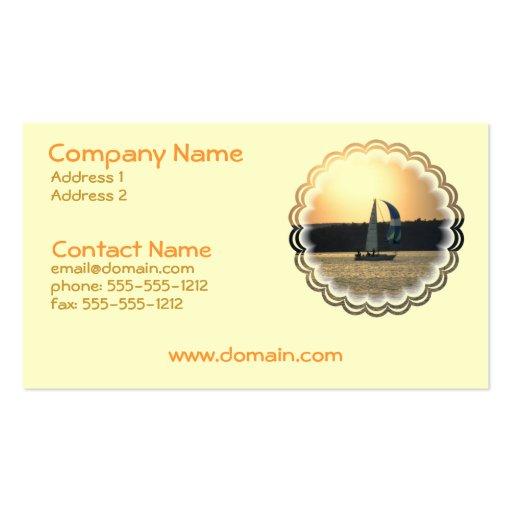 Spinnaker Sailboat Sunset Business Card