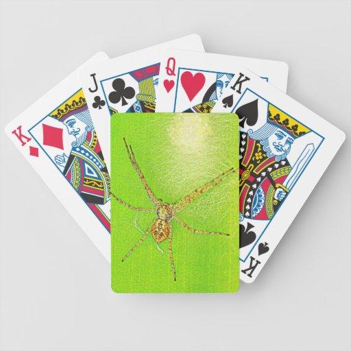 Spinne auf Blatt Poker Cards
