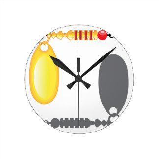 Spinner Bait Gold vector Round Clock