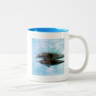 Spinner Dolphins | Oahu Hawaii Two-Tone Coffee Mug