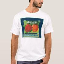 Spinner Fruit Apple Label - Yakima, WA T-Shirt