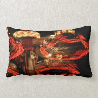 Spinning Amusement At Night Lumbar Pillow