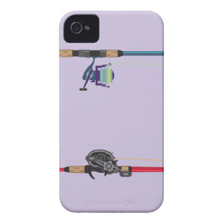 Spinning and baitcasting rods with reels handles iPhone 4 case
