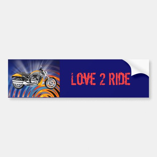 Spinning Circles with Gold Motorcycle Bumper Sticker