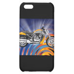 Spinning Circles with Gold Motorcycle Case For iPhone 5C