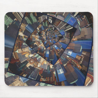 Spinning City Walls Mouse Pad