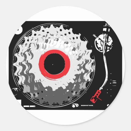 Spinning Cogs Classic Round Sticker