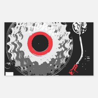 Spinning Cogs Rectangular Sticker