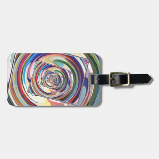 Spinning Colors Abstract Bag Tag
