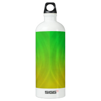 Spinning colours in reflection aluminum water bottle