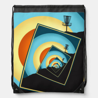 Spinning Disc Golf Baskets 1 Drawstring Backpack
