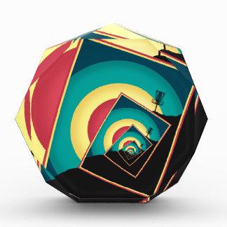 Spinning Disc Golf Baskets 2 Acrylic Award