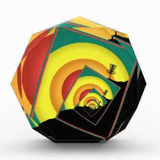 Spinning Disc Golf Baskets 3 Acrylic Award