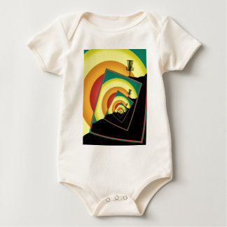 Spinning Disc Golf Baskets 3 Baby Bodysuit