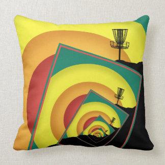 Spinning Disc Golf Baskets 3 Throw Pillow