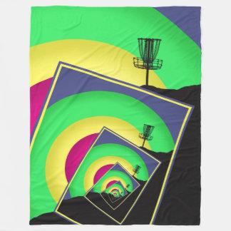 Spinning Disc Golf Baskets 5 Fleece Blanket