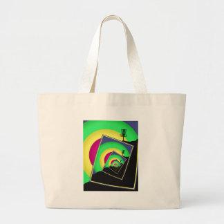 Spinning Disc Golf Baskets 5 Large Tote Bag
