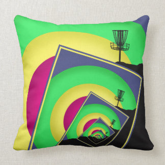 Spinning Disc Golf Baskets 5 Throw Pillow