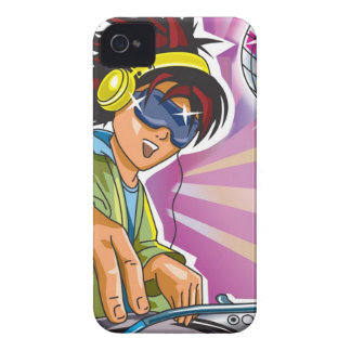 Spinning DJ iPhone 4 Case