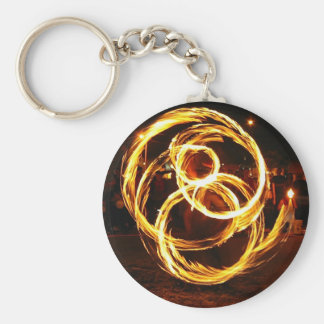 Spinning Fire - Abstract Keychain