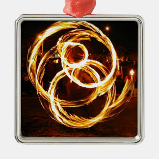 Spinning Fire - Abstract Christmas Tree Ornament