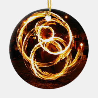 Spinning Fire - Abstract Christmas Ornaments