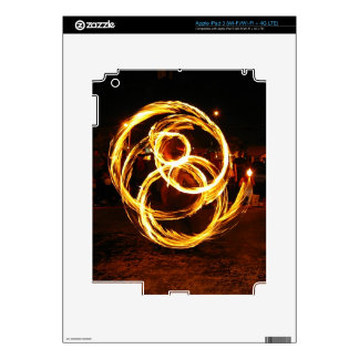 Spinning Fire - Abstract iPad 3 Decals