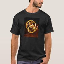 Spinning Fire - Abstract T-Shirt