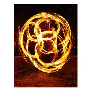 Spinning Fire - Celtic Knot Postcard