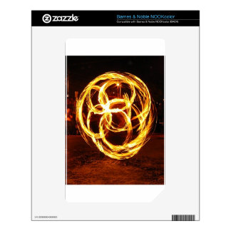 Spinning Fire - Celtic Knot Decal For NOOK Color