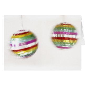 Spinning Glitterballs Greeting Card