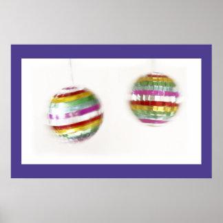 Spinning Glitterballs Poster