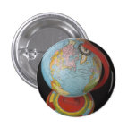 Spinning Globe Pinback Button