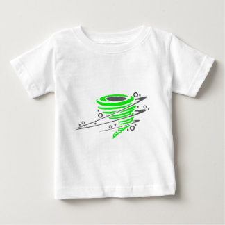 Spinning green tornado baby T-Shirt