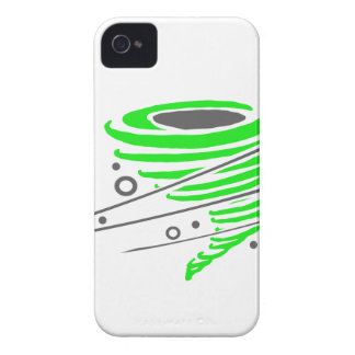 Spinning green tornado Case-Mate iPhone 4 cases
