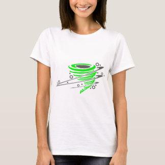 Spinning green tornado T-Shirt
