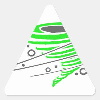 Spinning green tornado triangle sticker