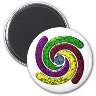 Spinning in a circle 2 inch round magnet