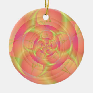 Spinning in Pink and Yellow Ornament